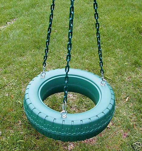 Tire Swing - Plastic w/ Chains
