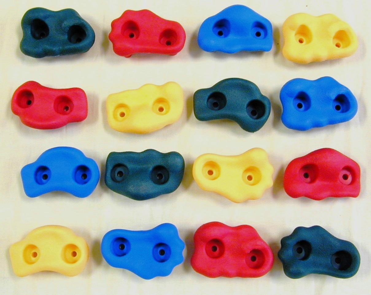 Rock Wall Climbing Holds - Multi (16 per set)