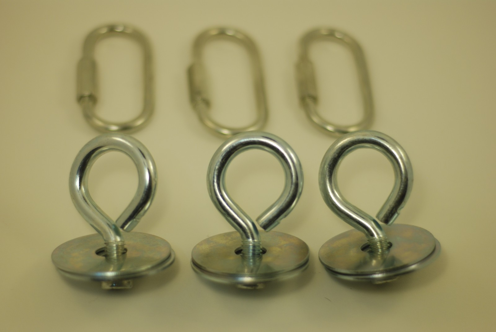Zinc Plated Tire Swing Eye Bolt Set (Set of 3)